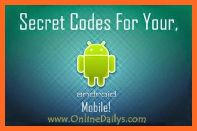 Full List of Android Secret Codes
