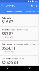 Google Adsense Mobile App