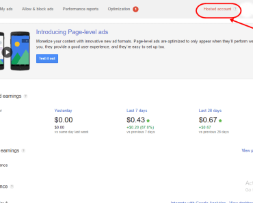 Google AdSense Hosted Account