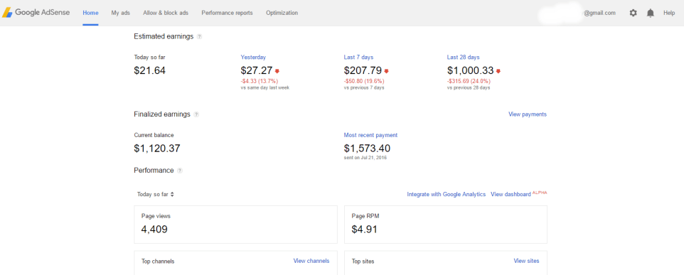 Non Hosted Google AdSense Account