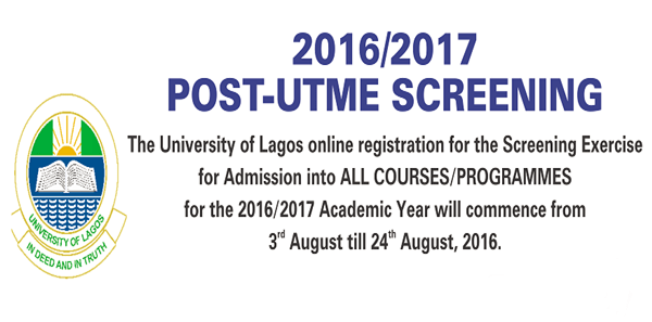 Unilag 2016/2017 Post-Utme Screening Exercise Date