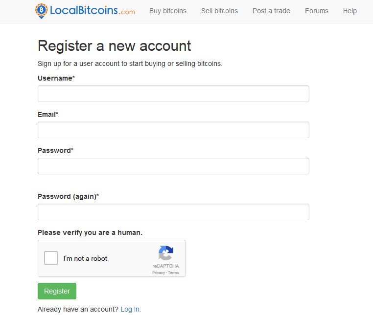 LocalBitcoins page image
