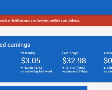 Image 1: Google AdSense Account
