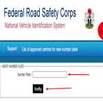 How To Verify Plate Number @ www.nvisng.org in Nigeria
