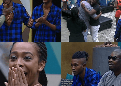 Don Jazzy with DNA Twins visits Big Brother Naija Housemates