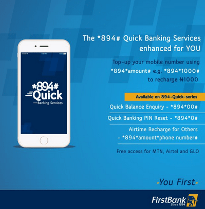 How To Register And Use FirstBank 894 Services