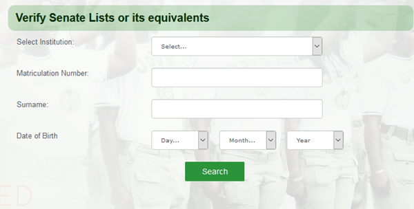 How To Check NYSC Senate List