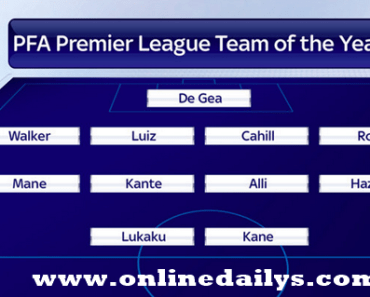 PFA Team Of The Year
