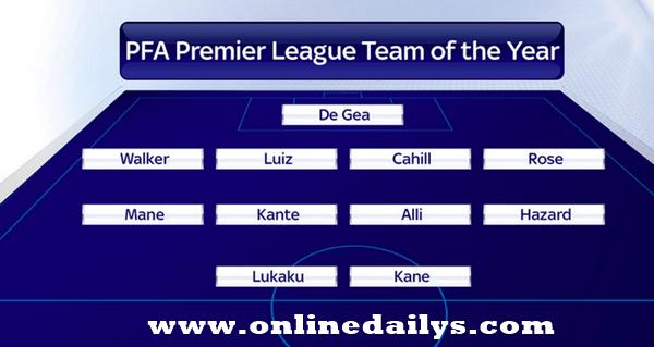 PFA Team Of The Year