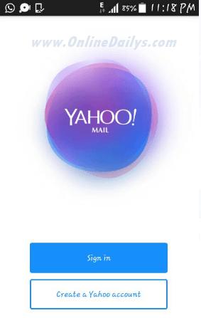 Create yahoo login