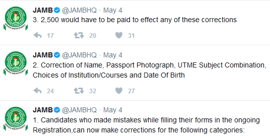 How To Correct Mistakes Made During Jamb Registration Edit Your Jamb Profile Details Online Dailys