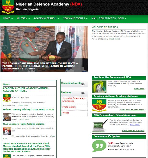 NDA official website