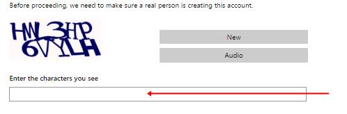 image: Outlook Mail Registration form 3