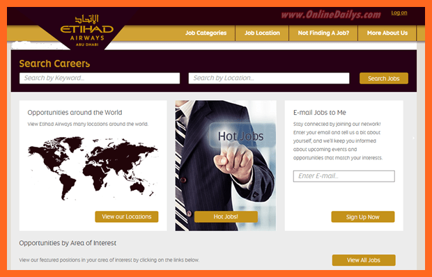 Logo:  Etihad Airways Job Vacancies
