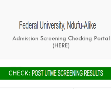 FUNAI Post UTME Results checking logo