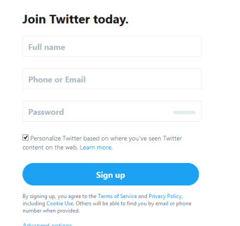 Twitter Sign Up | Twitter Account Registration | Sign Up Twitter