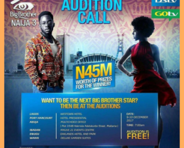 Big Brother Naija 2018 Audition banner