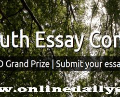World Youth Essay Competition 2018 Application
