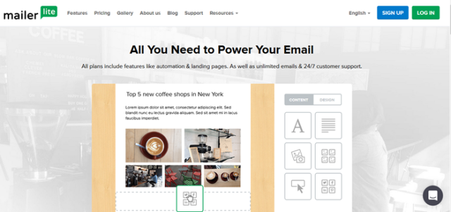 MailerLite page - Free Email Marketing and Automation Websites