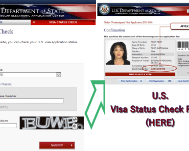 USA Check Visa Application Status