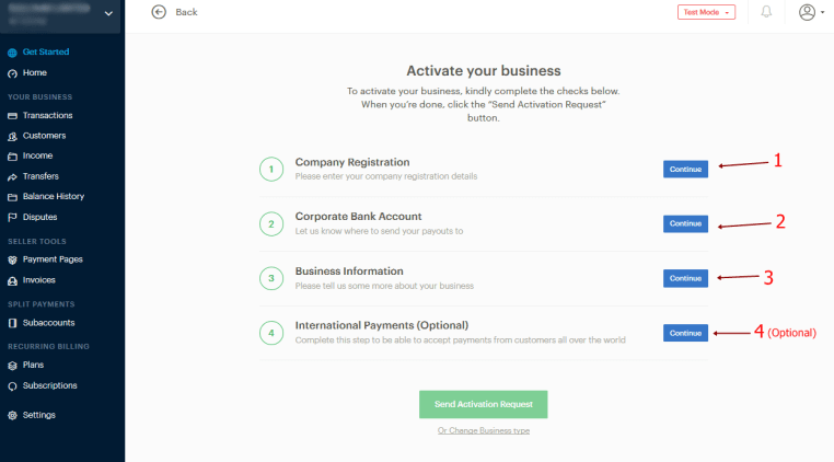 Signup Paystack Online Payment