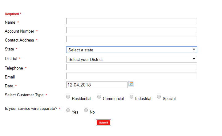Form to Apply For Pre-Paid Meter Online