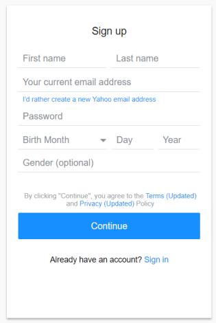 Yahoo ng form 1.1