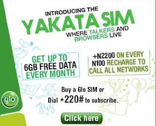 Get Free 6GB With Glo Yakata Prepaid Plan