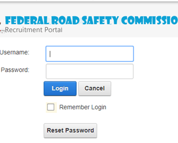 recruitment.frsc.gov.ng login page