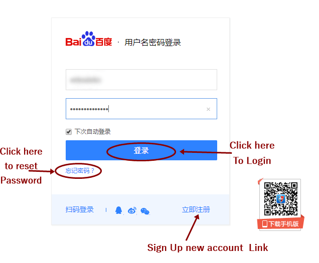 Baibu Login Form 2