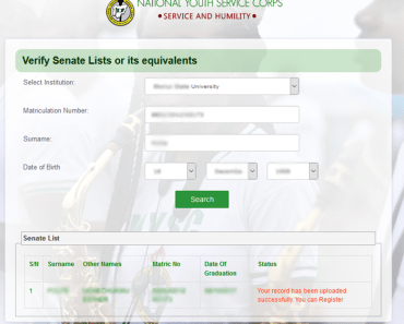 NYSC Senate list checker