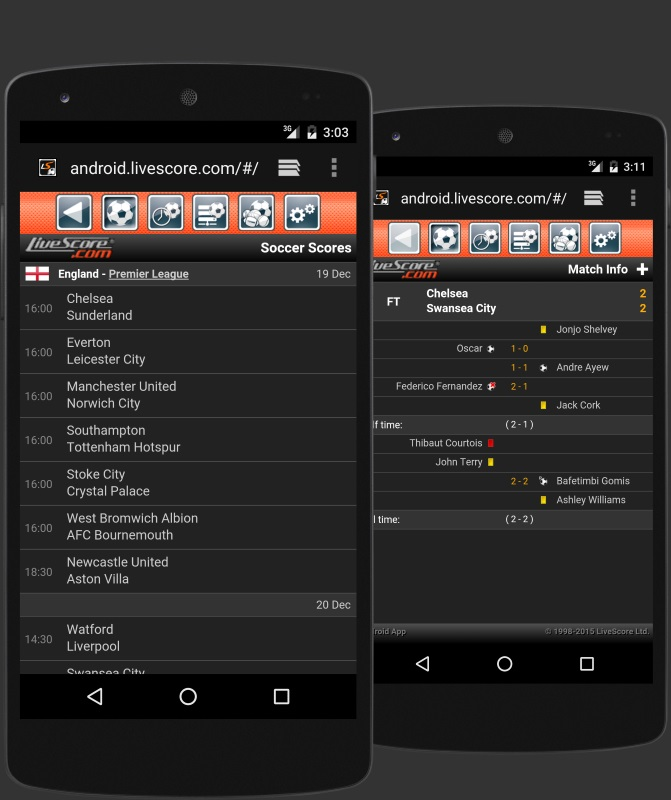 Download LiveScore for Android - www livescore com App