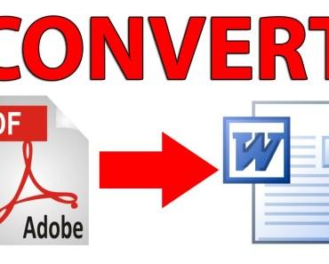 convert PDF files to Doc