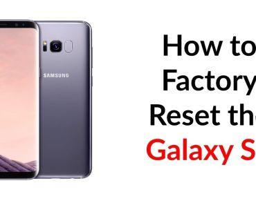 Reset Galaxy S8