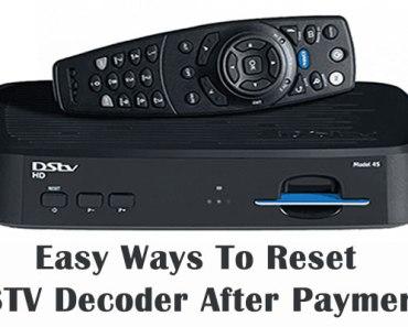 Reset Your DSTV