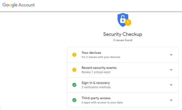 Google account risky access image 1