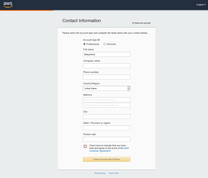 Amazon Web Services | How to Create Free AWS Account 2