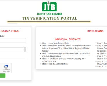 Image of TIN Verification portal