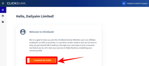 ClickBank account Profile image