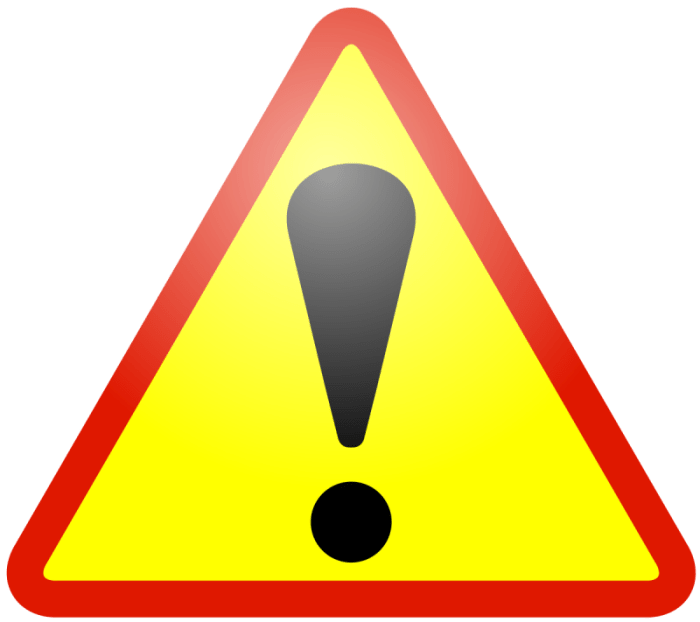 warning icon at onlinedailys.com