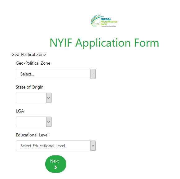 NYIF Application Form 3