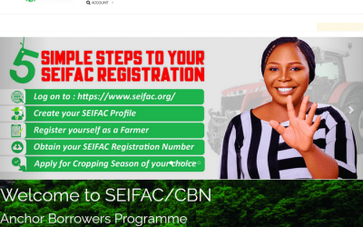 SEIFAC/CBN Anchor Borrowers Programme Registration Portal | SEIFAC login Page