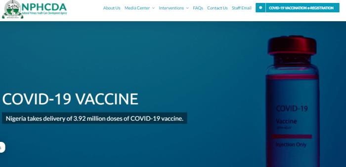 Nigeria Covid Vaccination official portal-image