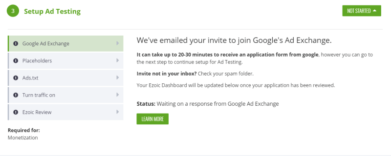 ezoic google ad exchange application image 2