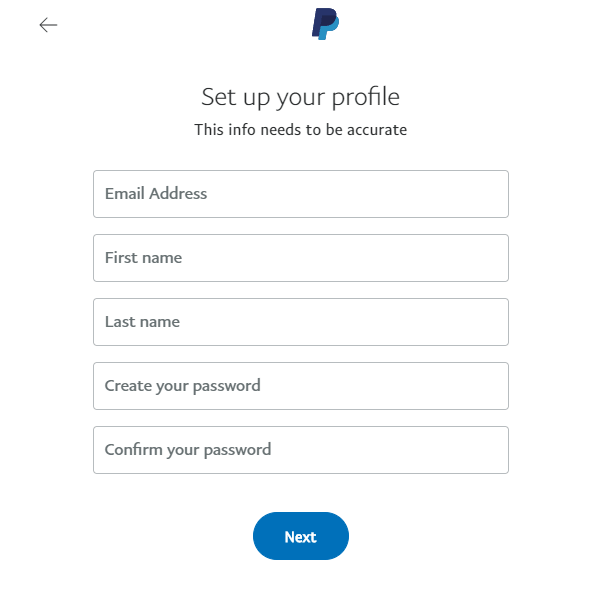 paypal profile page form-image