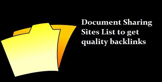 Free DoFollow High Authority Document Sharing Sites List 2021