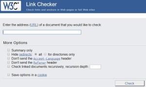 W3C Link Checker - Free broken checker site