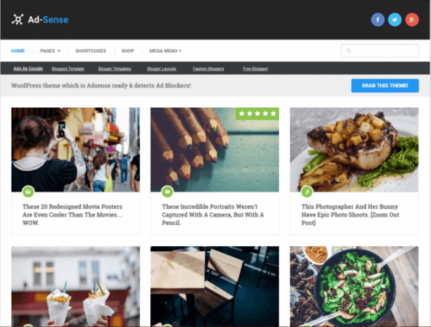Adsense wordpress theme from mythemeshop