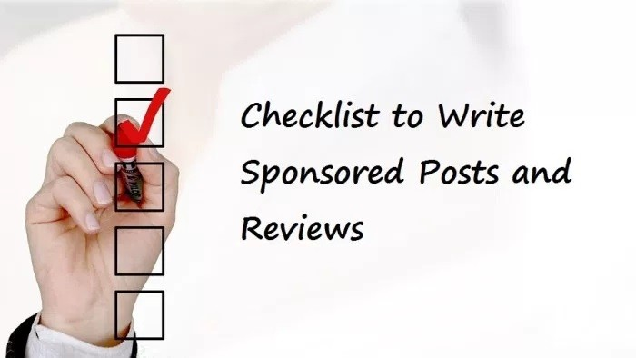 Checklist To Write Sponsored Posts In 2021