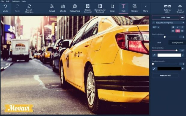 Movavi Photo Editor: how to edit someone out of a picture